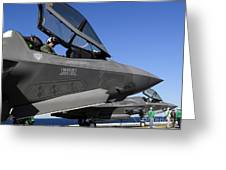 F-35b Lightning II Variants Are Secured Greeting Card