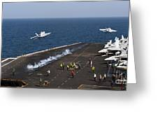 Fa-18f Super Hornets Launch Greeting Card