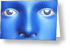 Face Biometrics Greeting Card by Pasieka