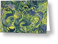 Faces In Abstract Greeting Card by Judy M Watts-Rohanna