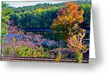 Fall By The River 4 Greeting Card