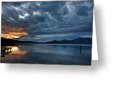 Fall Sunset Over Lake Pend Oreille Greeting Card