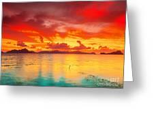 Fantasy Sunset Greeting Card by MotHaiBaPhoto Prints