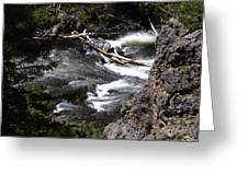 Fast Moving Firehole River Greeting Card