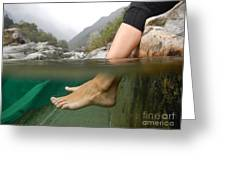 Feet Under The Water Greeting Card