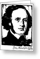 Felix Mendelssohn Greeting Card by Granger