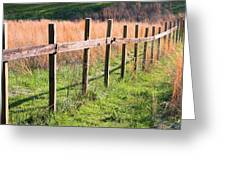 Fence Perspective Greeting Card