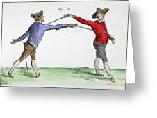 Fencing, 18th Century Greeting Card