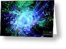 Fiber Optic Swirl Greeting Card