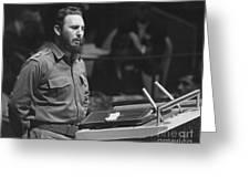 Fidel Castro (1926-) Greeting Card