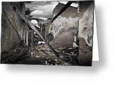 Fire Destruction, Artwork Greeting Card by Victor Habbick Visions