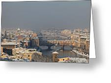 Firenze Under The Snow Greeting Card