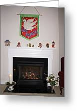 Fireplace At Christmas Greeting Card
