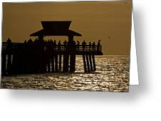 Fishing At Naples Pier Greeting Card