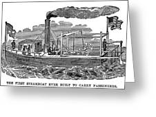 Fitchs Steamboat, C1790 Greeting Card