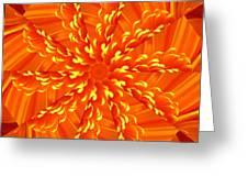 Floral Sunrise Greeting Card