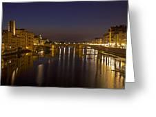 Florence - Ponte San Trinita Greeting Card by Joana Kruse