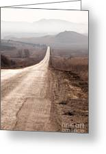 Foggy Road In Dobrogea Greeting Card