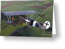Fokker D.vii World War I Replica Greeting Card