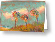 Folly Beach Wind Blown Greeting Card