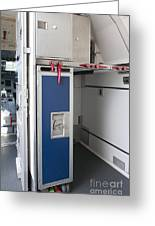 Food Compartment On An Airplane Greeting Card by Jaak Nilson