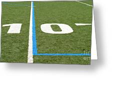 Football Field Ten Greeting Card