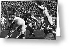 Football Game, 1965 Greeting Card