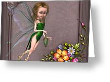 Forest Fairy In The Garden Greeting Card