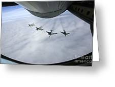 Formation Of Luftwaffe F-4f Phantom IIs Greeting Card