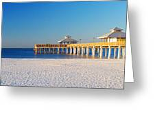 Fort Myers Beach Pier Greeting Card