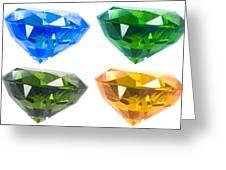 Four Diamond Greeting Card