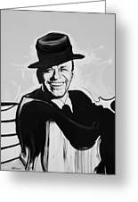 Frank In Black And White Greeting Card