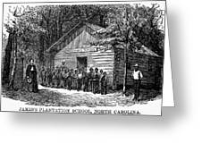Freedmen School, 1868 Greeting Card by Granger