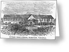 Freedmens School, 1868 Greeting Card