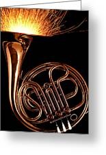 French Horn With Sparks Greeting Card