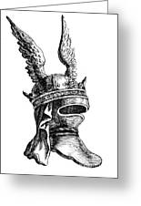 French Medieval Helmet Greeting Card