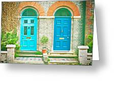 Front Doors Greeting Card