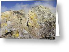 Fumaroles With Sulphur Deposits. Flank Greeting Card
