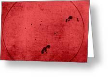 Galileo Sunspot Illustration Greeting Card