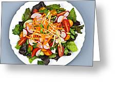 Garden Salad Greeting Card by Elena Elisseeva