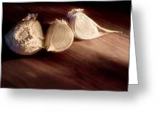Garlic Cloves Greeting Card