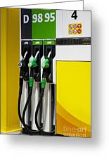 Gas Pumps At A Station Greeting Card by Jaak Nilson