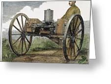 Gatling Gun, 1872 Greeting Card