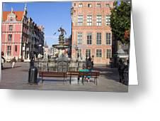 Gdansk Old Town Greeting Card by Artur Bogacki
