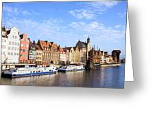 Gdansk Old Town In Poland Greeting Card