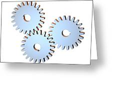 Gear Wheels, Artwork Greeting Card by Laguna Design