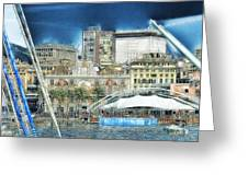 Genova Expo Area With Saint George Building Greeting Card