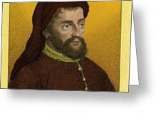 Geoffrey Chaucer, Father Of English Greeting Card