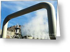 Geothermal Power Plant Greeting Card