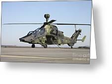 German Tiger Eurocopter At Fritzlar Greeting Card